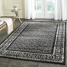 Safavieh ADR110A-8 Adirondack Black and Silver Vintage Area Rug, 8' x 10' NEW