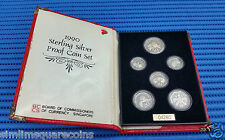 1990 Singapore Sterling Silver Proof Coin Set (1¢ - $1 Coin)