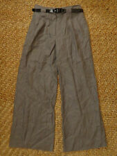 Marks and Spence Limited Collection Grey 100% Linen Trousers Size 10 Medium £35
