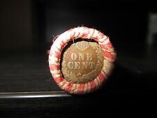 MIXED WHEAT INDIAN PENNY SHOTGUN ROLL WITH AN INDIAN HEAD CENT END! 50 COINS FG
