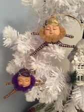Pair 2 Katherine's Collection Ornaments Humpty Dumpty Whimsical Leaping