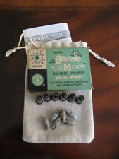 Six Mattel Shootin' Shell Bullets w/Gray Tips In Drawstring Pouch & More