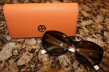 NWOT Tory Burch Womens Polarized White Side Frame Sunglasses with Case