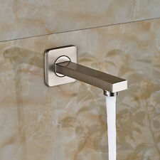 Nickel Brushed Waterfall Bathroom Tub Faucet Wall Mounted Shower Replacement Tub