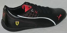 MEN'S PUMA DRIFT CAT 6 SF FLASH SCUDERIA FERRARI BLACK LEATHER SHOES SIZE 9.5