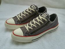 CONVERSE CHUCK TAYLOR ALL STAR DOUBLE ZIP OX SNEAKERS Wo's Size 8 Graphite