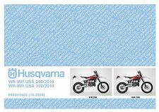Husqvarna Parts Manual Book 2010 WR 250 & WR 250 USA / WR 300 & WR 300 USA