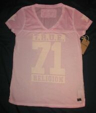Womens L Large  True Religion Top T-Shirt Pink