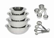 2dayShip Stainless Steel Mixing Bowls 1.5, 3, 4, and 5 Quart and Measuring Cup