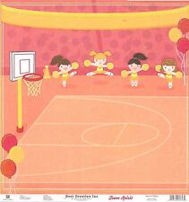 Best Creation - Basketball - Cheerleading GLITTER Scrapbooking Paper - DS