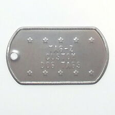2 Military Dog Tags Custom Embossed - GI ID Tags - Personalized Tag Replacement