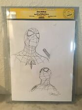 Steve McNiven Sketch Commission CGC SS Spiderman ! Original Artwork !