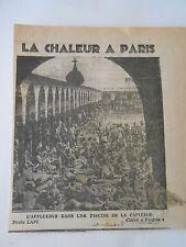 La Chaleur à Paris L'affluence dans une piscine  Coupure de presse 1943