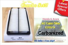 COMBO SET Engine & Carbonized Cabin Air Filter for ACURA MDX 2014-2015 US Seller