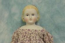 "26"" Antique ABG Blond Parian Alice doll Painted headband Antique cloth body"