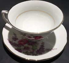 Vintage Golden Crown Tea Cup and Saucer Set, Fine Bone China Made In England