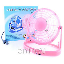 Mini Ventilador USB para PC Ordenador Desktop Color Rosa a864