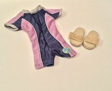 AMERICAN GIRL DOLL KAILEY RETIRED MEET SANDALS SHOES & WET SWIM SUIT 2003 GOTY