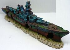 BATTLESHIP WRECK RUINS WS063 LARGE AQUARIUM DECOR FISH TANK RESIN ORNAMENT