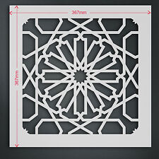 Large Moroccan Tile Stencil Template #5L: For Walls & Fabric Decoration