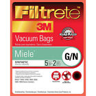 3M Filtrete 68705 Miele G/N Vacuum Bags and Filters (5 bags-2 filters)
