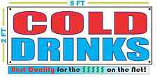 COLD DRINKS Banner Sign NEW Larger Size Best Quality for The $$$