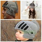 Kid Adult Unisex Crochet Knit Roman Knight Helmet Ski Hat Warm Mask Beanie Cap B
