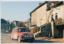 Paddy Hopkirk Hand Signed 12x8 Photo Mini Cooper Rally.