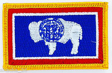 Ecusson Brodé PATCH drapeau Wyoming AMERICAIN USA ETATS UNIS FLAG EMBROIDERED