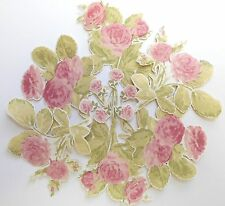 12 LAURA ASHLEY Vintage Rose Wallpaper DECOUPAGE PIECES furniture craft pretty