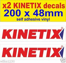 x2 KINETIX RACING rally race car decals nisan 350z infiniti honda ford sticker