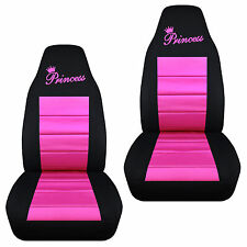 cute Princess  front car seat covers blk/pink/red/purple/charcoal, choose color
