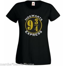 harry potter hogwarts express ladyfit t-shirt  lady fit womans top black XL
