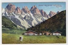 AK Kematen, Kemater Alpe mit Kalkkögeln, 1911