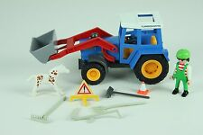 1992 1997 Geobra Playmobil Set Farm Tractor Loader Mobile Farmer Toys Georgebra