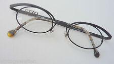 Rizo ausgefallen Brillenfassung Damen Brille klein oval schwarz Metall NEU Gr.M