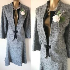 ROMAN Skirt Suit SIZE 18 Curve Mother Of The Bride OCCASION Wedding Grey Wool.