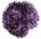 Purple/Silver Chunky/Fine Tinsel - 3 Metre - Christmas Decorations (T3)