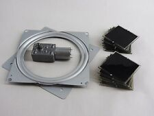 Solar Tracker Component DIY Kit: includes 12V DC motor, solar cells, turn table