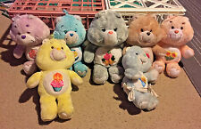 Vintage Care Bears Plush ~ Birthday Bear, Share Bear & More ~ Lot of 7