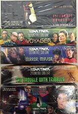 STAR TREK CCG 5 BOOSTER BOX LOT : REFLECTIONS, VOYAGER, AU, MIRROR & TRIBBLES