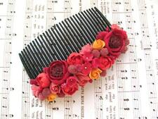 Flower Hair Comb HANDCRAFTED Fashion polymer clay floral cute Hair Comb HANDMADE