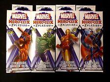 Wizkids Marvel HeroClix Xplosion 4 Booster Pack Lot Factory Sealed .