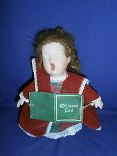 Vintage Christmas Caroler Porcelain & Cloth Doll by Anco Ltd 1997 10inch
