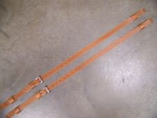 LEATHER LUGGAGE STRAPS for LUGGAGE RACK/CARRIER~~2 SET~LT HONEY~STAINLESS STEEL