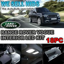 Range Rover Vogue L322 18pc LED Interior Kit Lumières LED Xenon Blanc uk vendeur
