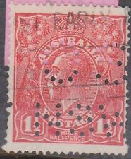 (XS39) 1914 AU 1½d KGV perforated OS NSW (I)