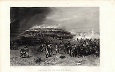 THE BATTLE OF BUNKER'S HILL - STEEL ENGRAVED PRINT- JAMES D. McCABE (1887)