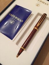 Rare Vintage Waterman Man 200 Brown Wood Ball Pen-NEW OLD STOCK-MINT