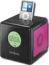 Insignia NS-CL01 AM/FM Alarm Clock Radio & Ipod Dock